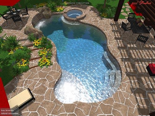 pool aerial view 2