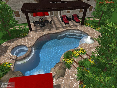 pool north view