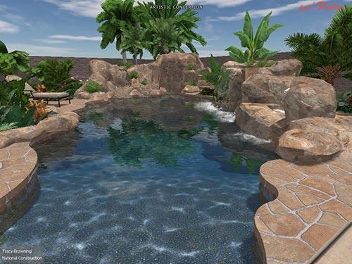 pool south view