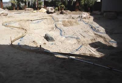 layout of pool construction