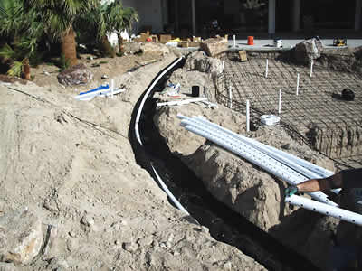 swimming pool construction plumbing